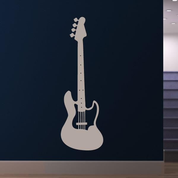 Bass Electric Guitar Musical Instrument Wall Art Sticker - Apex Stickers