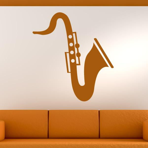 Saxophone Design Musical Instrument Wall Art Sticker - Apex Stickers