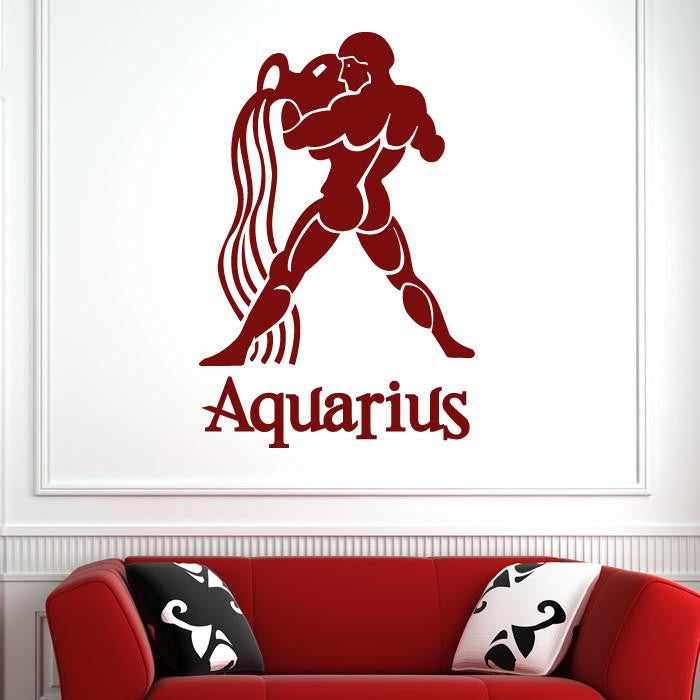 Aquarius Zodiac Star Sign Horoscope Wall Art Sticker - Apex Stickers