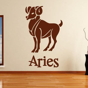 Aries Zodiac Star Sign Horoscope Wall Art Sticker (AS10171) - Apex Stickers