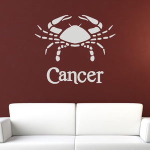 Cancer Zodiac Star Sign Horoscope Wall Art Sticker (AS10172) - Apex Stickers