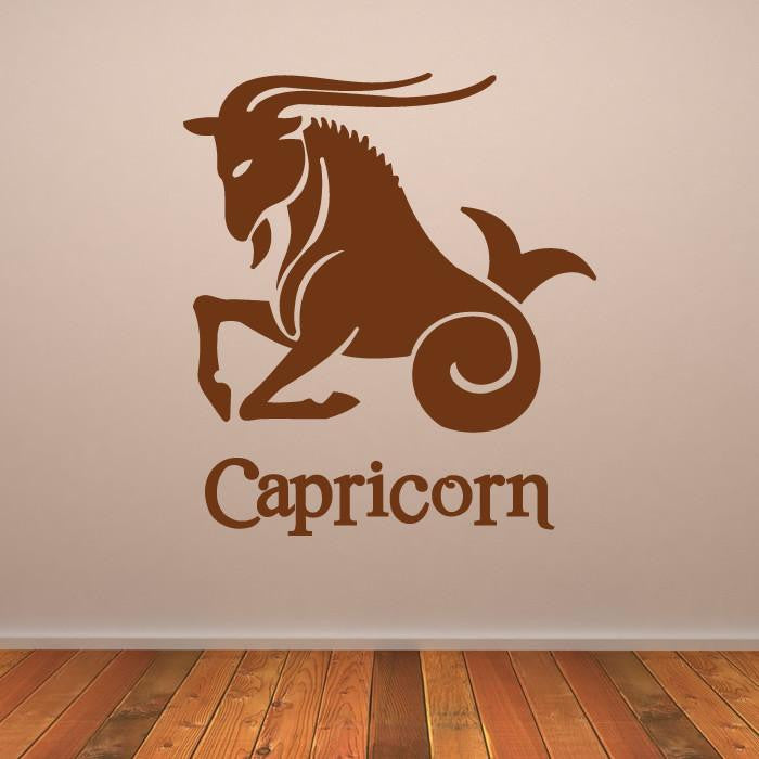 Capricorn Zodiac Star Sign Horoscope Wall Art Sticker (AS10175) - Apex Stickers
