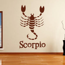 Load image into Gallery viewer, Scorpio Zodiac Star Sign Horoscope Wall Art Sticker - Apex Stickers