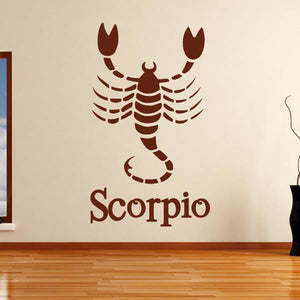 Scorpio Zodiac Star Sign Horoscope Wall Art Sticker - Apex Stickers