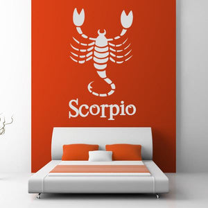 Scorpio Zodiac Star Sign Horoscope Wall Art Sticker (AS10177) - Apex Stickers
