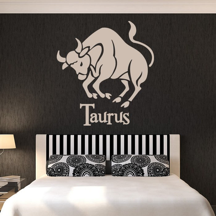 Taurus Zodiac Star Sign Horoscope Wall Art Sticker (AS10181) - Apex Stickers