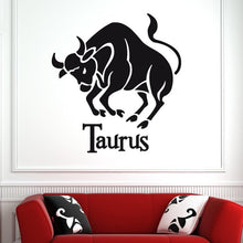 Load image into Gallery viewer, Taurus Zodiac Star Sign Horoscope Wall Art Sticker - Apex Stickers