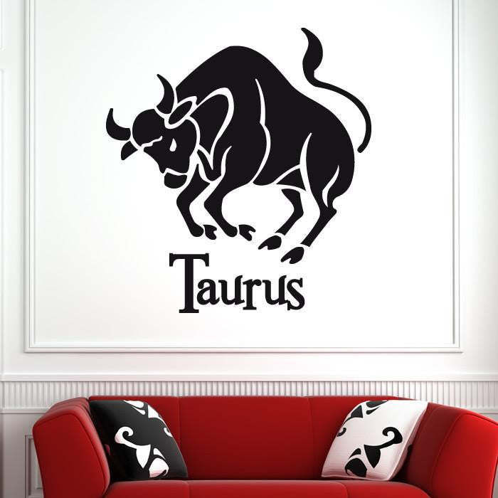 Taurus Zodiac Star Sign Horoscope Wall Art Sticker - Apex Stickers