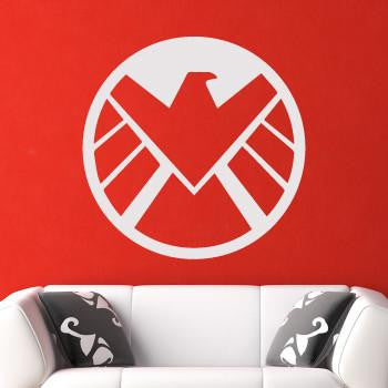Agents of Shield Superhero Logo Wall Art Sticker (AS10218) - Apex Stickers