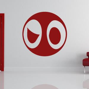 Deadpool Cartoon Superhero Logo Wall Art Sticker - Apex Stickers