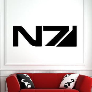 Mass Effect N7 Insignia Computer Game Logo Wall Art Sticker (AS10223) - Apex Stickers