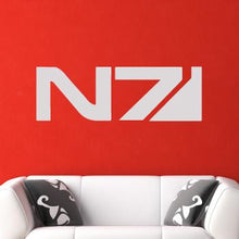 Load image into Gallery viewer, Mass Effect N7 Insignia Computer Game Logo Wall Art Sticker - Apex Stickers