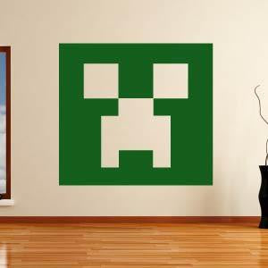 Minecraft Creeper Head Wall Art Sticker - Apex Stickers