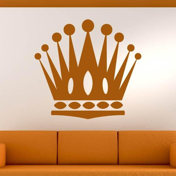 Crown Motif Wall Art Sticker - Apex Stickers