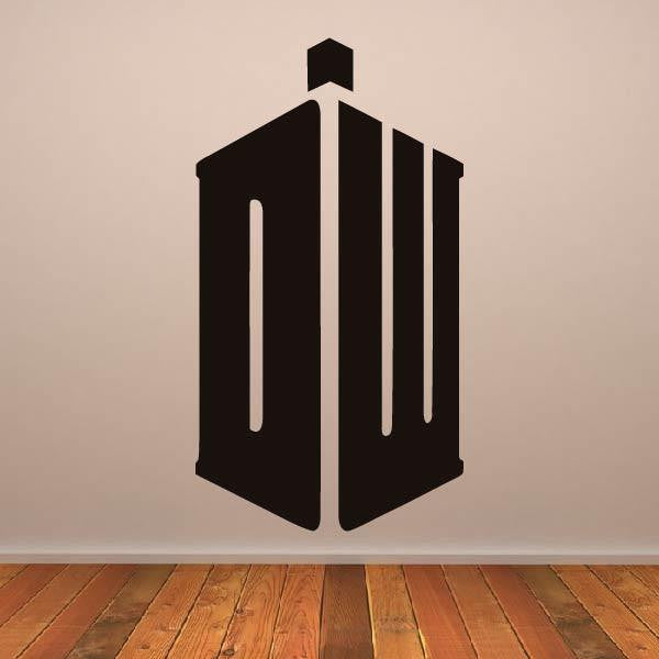 Doctor Who DR Tardis Logo Wall Art Sticker (AS10241) - Apex Stickers