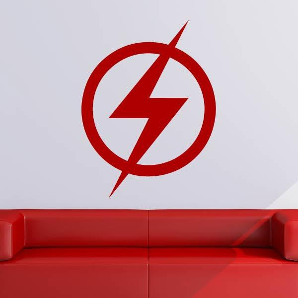 The Flash Superhero Logo Wall Art Sticker (AS10242) - Apex Stickers