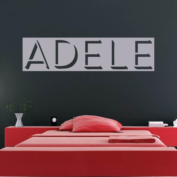 Adele Singer Logo Wall Art Sticker - Apex Stickers