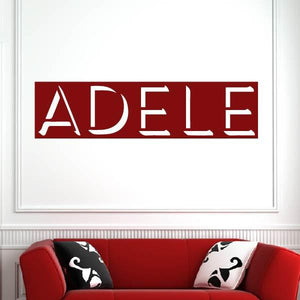 Adele Singer Logo Wall Art Sticker (AS10245) - Apex Stickers