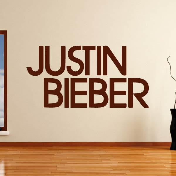 Justin Bieber Singer Logo Wall Art Sticker (AS10246) - Apex Stickers