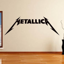 Load image into Gallery viewer, Metallica Band Logo Wall Art Sticker - Apex Stickers