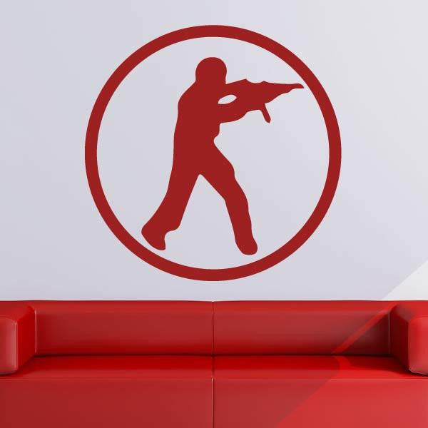 Counterstrike CSGO Logo Wall Art Sticker - Apex Stickers
