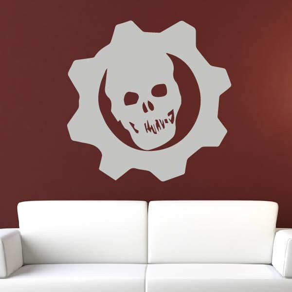 Gears of War Logo Wall Art Sticker - Apex Stickers