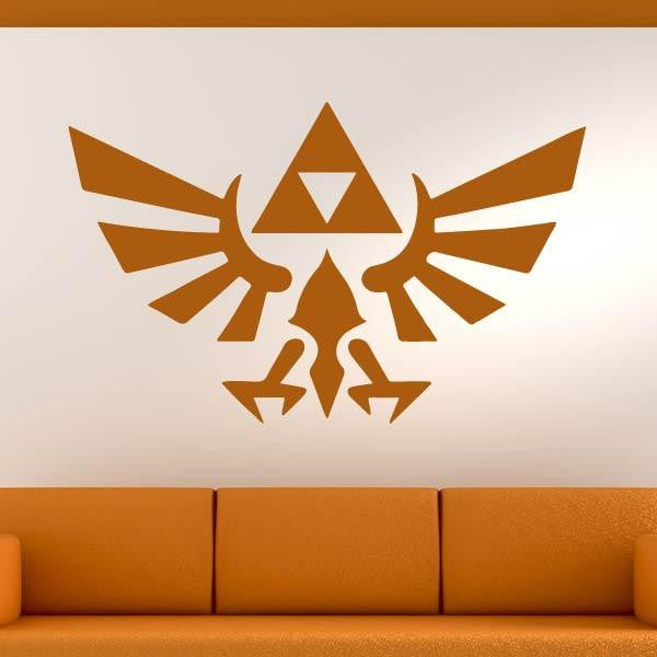 Zelda Triforce Logo Wall Art Sticker (AS10258) - Apex Stickers