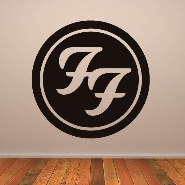 Foo Fighters Band Logo Wall Art Sticker - Apex Stickers