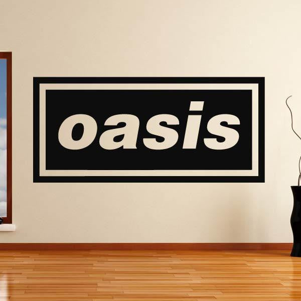 Oasis band logo wall art sticker as10260 apex stickers