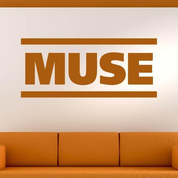 Muse band logo wall art sticker as10263 apex stickers