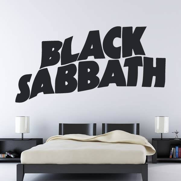 Black Sabbath Band Logo Wall Art Sticker - Apex Stickers