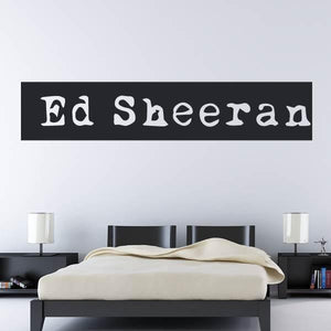 Ed Sheeran Musician Logo Wall Art Sticker (AS10275) - Apex Stickers