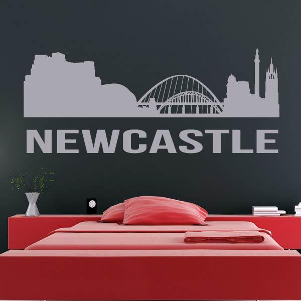 Newcastle upon Tyne UK Cityscape Skyline Wall Art Sticker - Apex Stickers