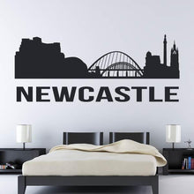 Load image into Gallery viewer, Newcastle upon Tyne UK Cityscape Skyline Wall Art Sticker - Apex Stickers