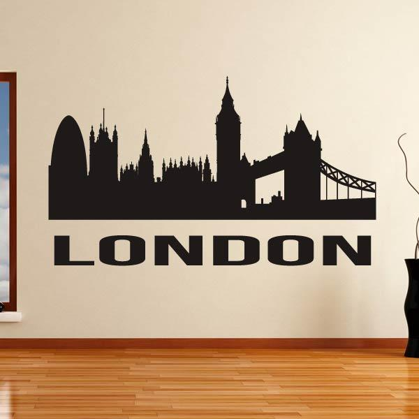 London UK Cityscape Skyline Wall Art Sticker (AS10278) - Apex Stickers