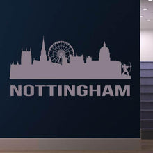 Load image into Gallery viewer, Nottingham UK Cityscape Skyline Wall Art Sticker - Apex Stickers
