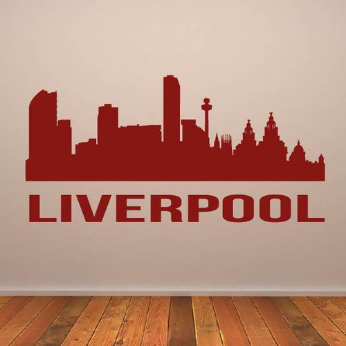 Liverpool UK Cityscape Skyline Wall Art Sticker - Apex Stickers