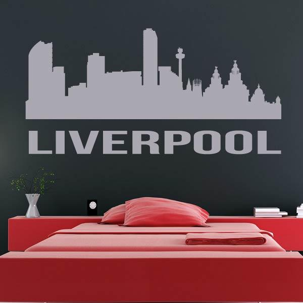 Liverpool UK Cityscape Skyline Wall Art Sticker (AS10282) - Apex Stickers