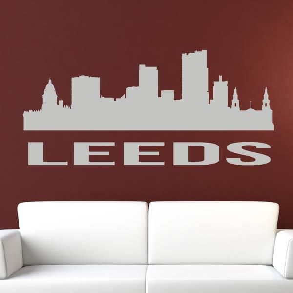 Leeds UK Cityscape Skyline Wall Art Sticker - Apex Stickers