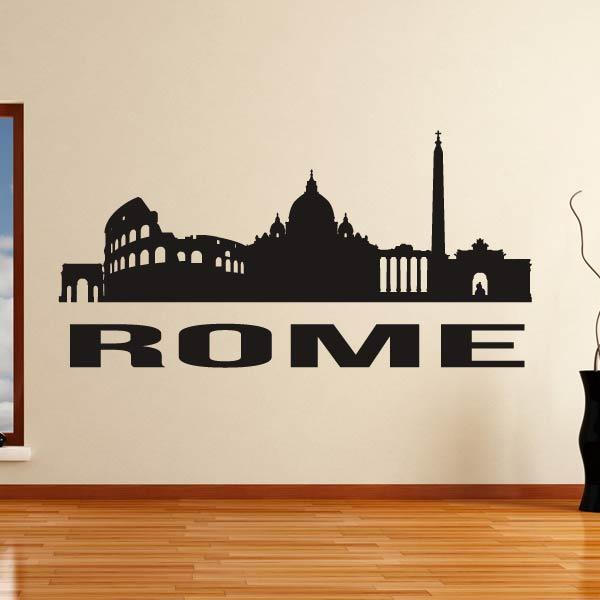 Rome Italy Cityscape Skyline Wall Art Sticker - Apex Stickers
