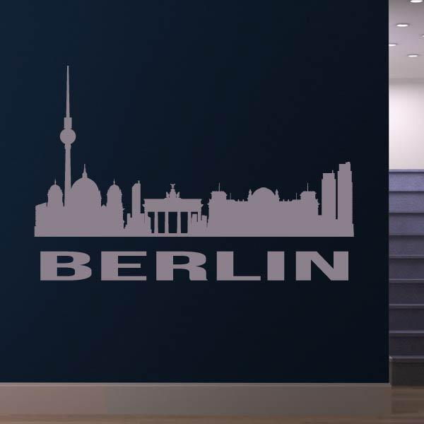 Berlin Germany Cityscape Skyline Wall Art Sticker - Apex Stickers
