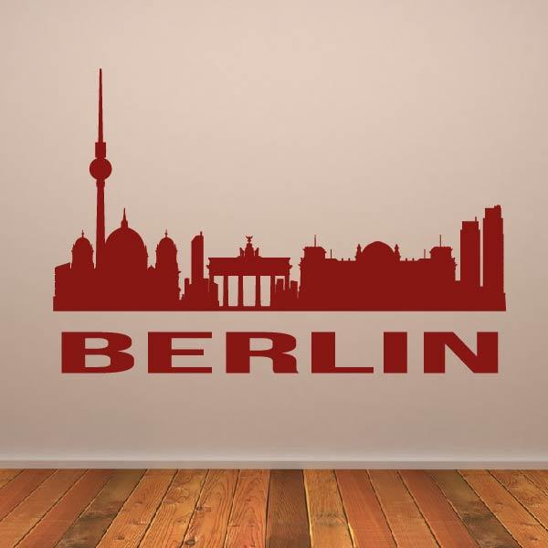 Berlin Germany Cityscape Skyline Wall Art Sticker (AS10288) - Apex Stickers