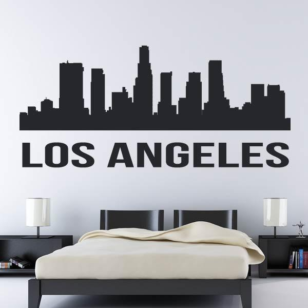 Los Angeles USA LA Cityscape Skyrise Wall Art Sticker (AS10289) - Apex Stickers