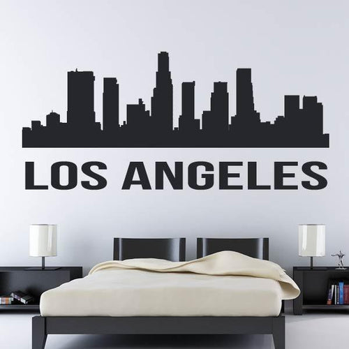 Los Angeles USA LA Cityscape Skyrise Wall Art Sticker - Apex Stickers