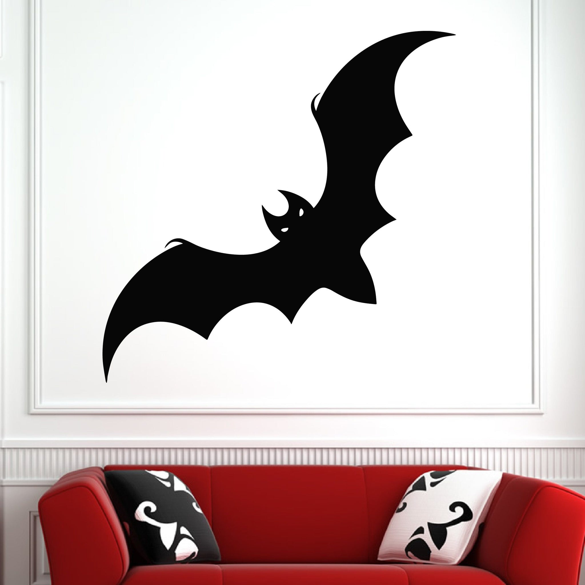 Bat Vampire Halloween Horror Spooky Wall Art Sticker (AS10292) - Apex Stickers