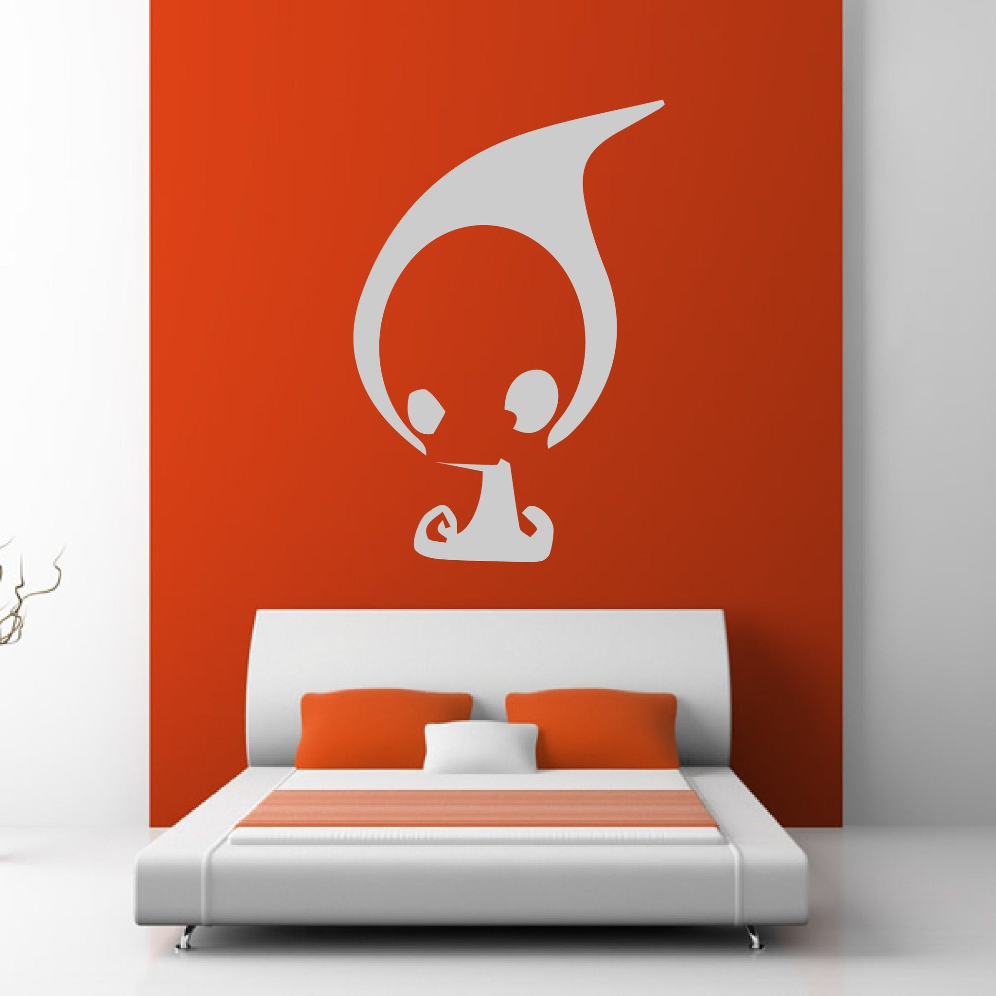 Cute Grim Reaper Head Wall Art Sticker - Apex Stickers