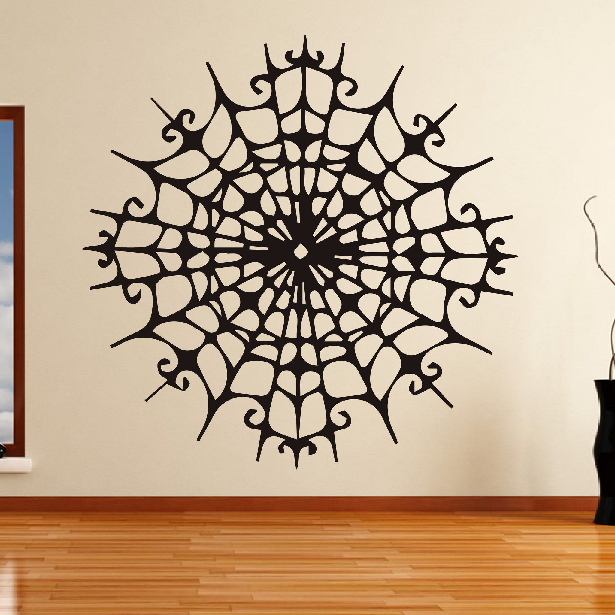 Creepy Spider Web Wall Art Sticker - Apex Stickers