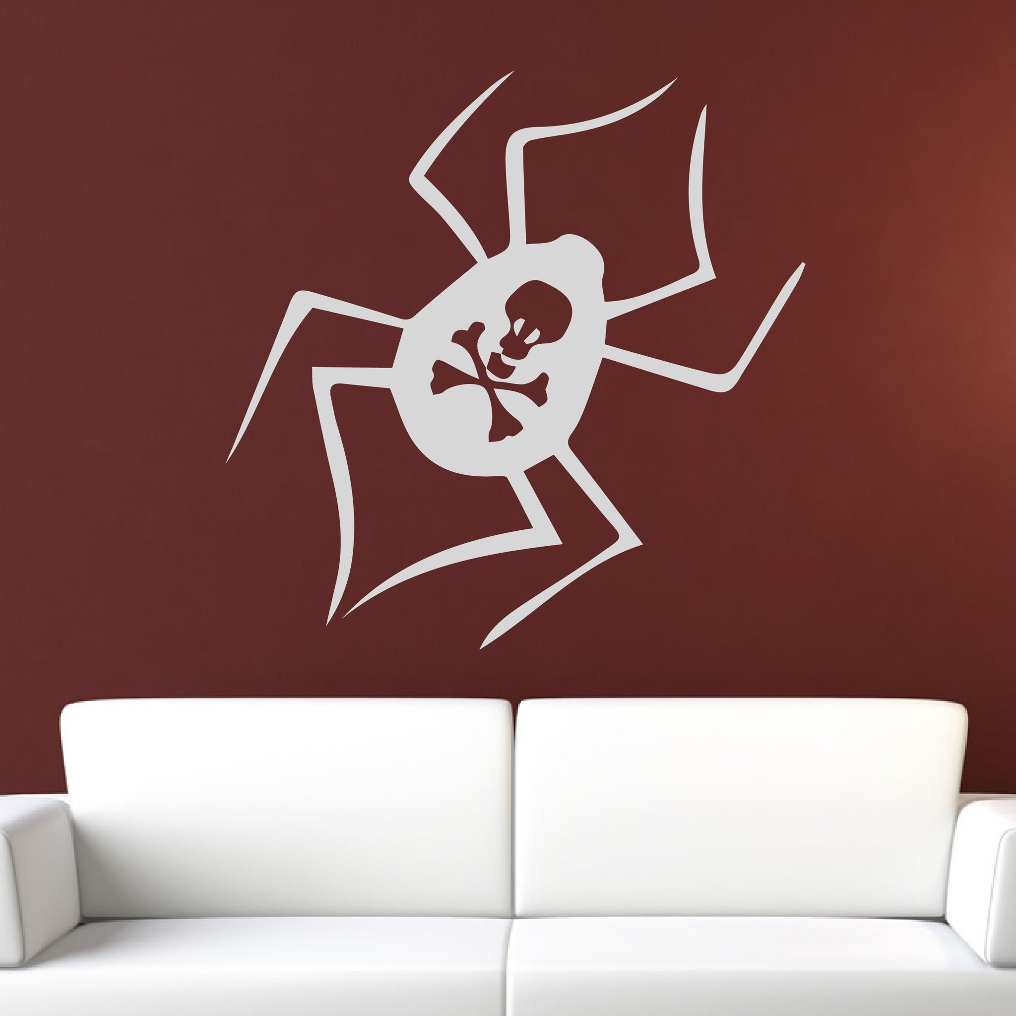 Deadly Spider Creepy Halloween Wall Art Sticker (AS10306) - Apex Stickers