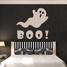 Load image into Gallery viewer, Boo Cartoon Ghost Halloween Scary Wall Art Sticker - Apex Stickers