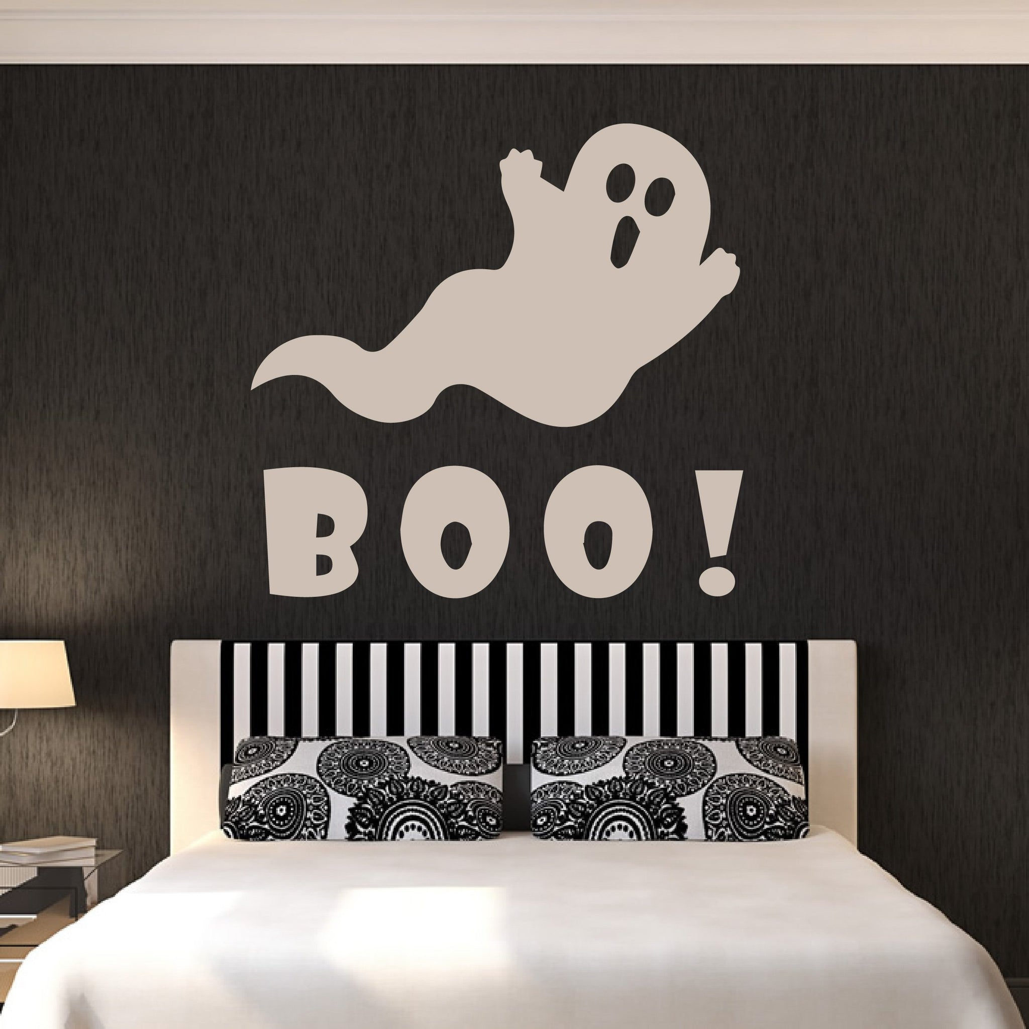 Boo Cartoon Ghost Halloween Scary Wall Art Sticker (AS10309) - Apex Stickers